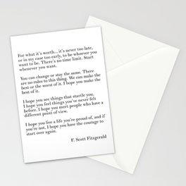fitzgerald for what it's worth Stationery Cards