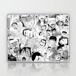 Ahegao Hentai Manga Guys Collage in B&W (Bara/Doujinshi) Laptop & iPad Skin