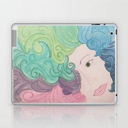 Higher Self Curly Rainbow Hair Laptop & iPad Skin