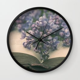 Book of LOVE - Lilacs Syringa Wall Clock