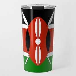 Kenyan national flag - Authentic version Travel Mug