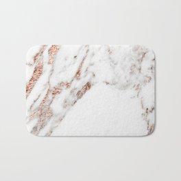 Rose gold foil marble Bath Mat