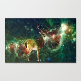 Stag in Space Canvas Print