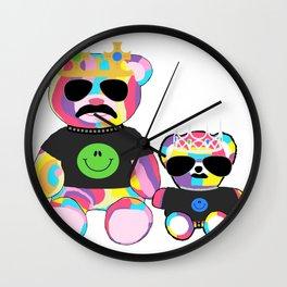 Rainbow bears Wall Clock