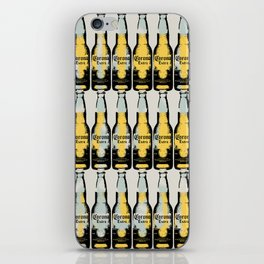 Corona beer pattern pop art illustration iPhone Skin