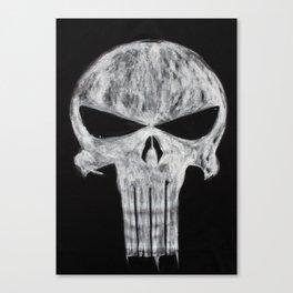 The Punisher skull Canvas Print