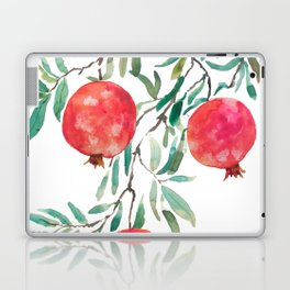 red pomegranate watercolor Laptop & iPad Skin