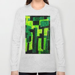 Three Green Puzzle Long Sleeve T-shirt