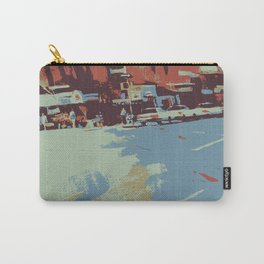 Cityscape abstract wall art print Carry-All Pouch