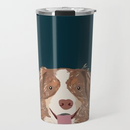 Hollis - Australian Shepherd gifts for dog owners pet lovers dog people gifts for dog person Travel Mug