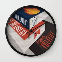Fahrenheit 451, François Truffaut, minimal movie poster, french film, Ray Bradbury, book Wall Clock