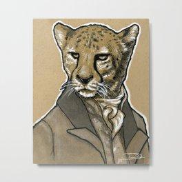 Suave Cheetah Metal Print