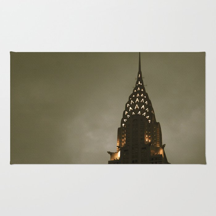 Chrysler Building at Twilight Rug