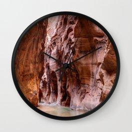 The Narrows Zion National Park Utah Wall Clock