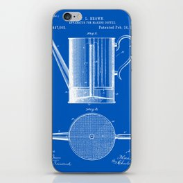 Coffee Press Patent - Blueprint iPhone Skin