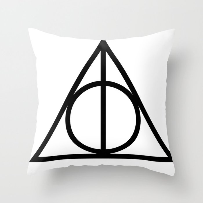 Deathly Hallows Symbol Throw Pillow By Msphalange Society6