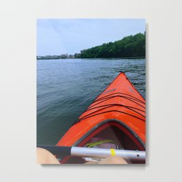 Kayaking Metal Print