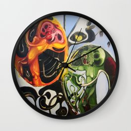 """Heart Spores"" - Oils on original. Wall Clock"