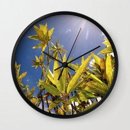 Crotons Wall Clock