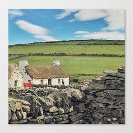 Thatched cottage, Ireland Canvas Print