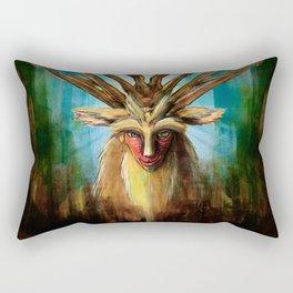 Princess Mononoke The Deer God Shishigami Tra Digital Painting. Rectangular Pillow