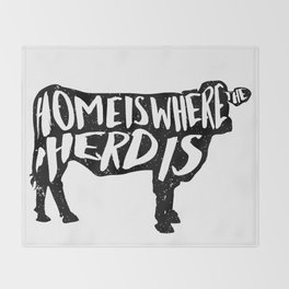 Home Is Where The Herd Is Throw Blanket