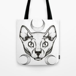 Moon Kitty Tote Bag