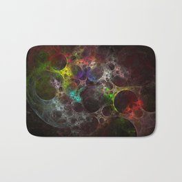 Multicolored fractal with holes Bath Mat