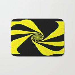 Abstract. Yellow+Black. Bath Mat
