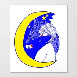 wolfstar (primary) Canvas Print