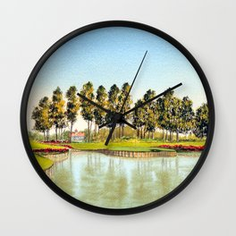 Sawgrass TPC Golf Course 17th Hole Wall Clock