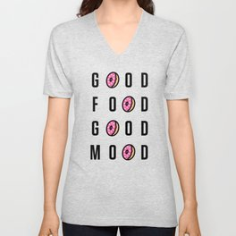 Good Food Good Mood Unisex V-Neck