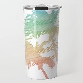 Beach Bound White Travel Mug