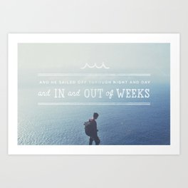 In and Out of Weeks Art Print