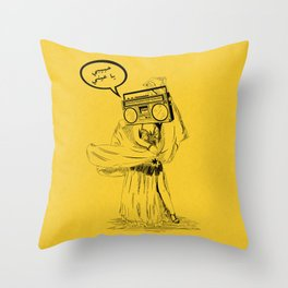 Belly Dancer Habebe Throw Pillow