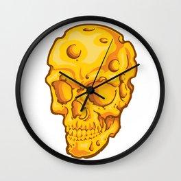 Cheesehead Skull Wall Clock