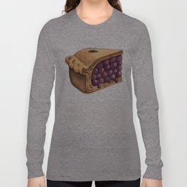 Blueberry Pie Slice Long Sleeve T-shirt