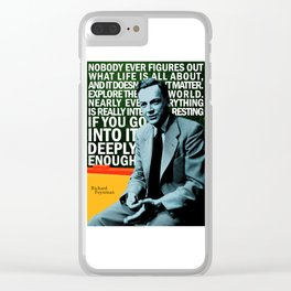 Richard Feynman Quote 1 Clear iPhone Case