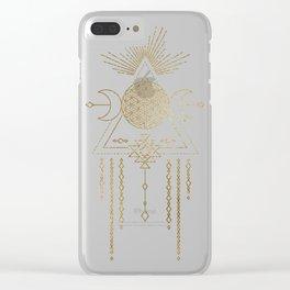 Golden Goddess Mandala Clear iPhone Case