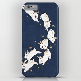Rabbits run iPhone Case