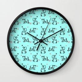 Scottie Dogs 'Blue' Wall Clock