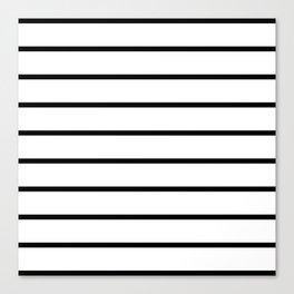 Horizontal Lines (Black & White Pattern) Canvas Print