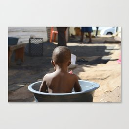 Boy in Tub, Soweto, South Africa Canvas Print