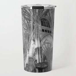 St Patrick's Cathedral New York Art Travel Mug
