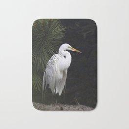 Great White Egret Bath Mat