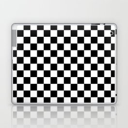 White and Black Checkerboard Laptop & iPad Skin
