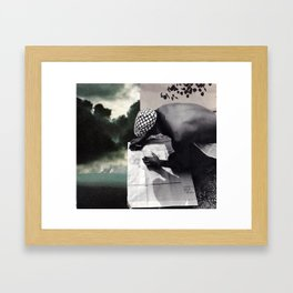 written in the clouds Framed Art Print