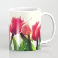 tulips Mugs featuring Tulips by 2sweet4words Designs