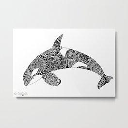 jumpimg Orca Metal Print