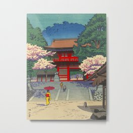 Asano Takeji Spring At Kurama Temple Vintage Japanese Woodblock Print Asian Art Metal Print